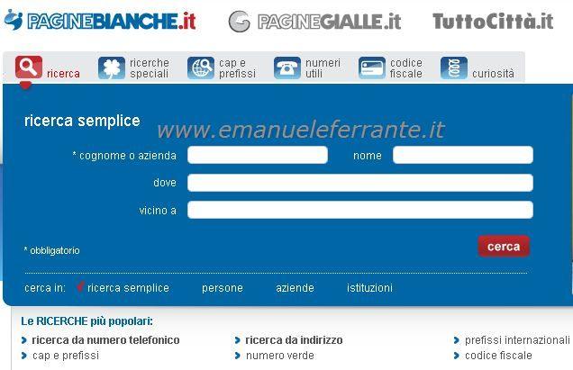 Cercare un numero telefonico emanuele ferrante 39 s blog for Numero senatori e deputati in italia