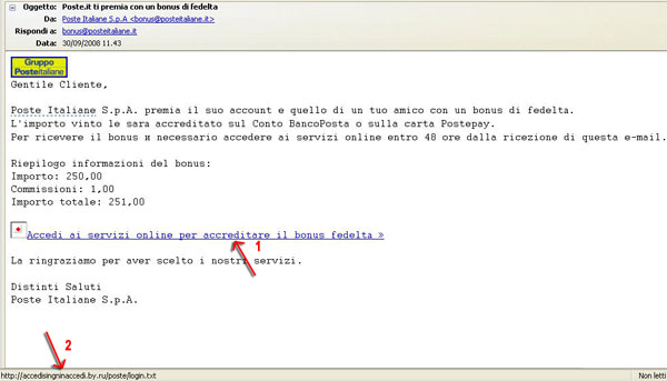 Email Truffa