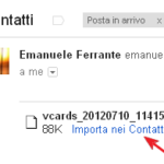 Sincronizzare i contatti gmail con il samsung galaxy