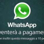 Whatsapp a pagamento nel 2013