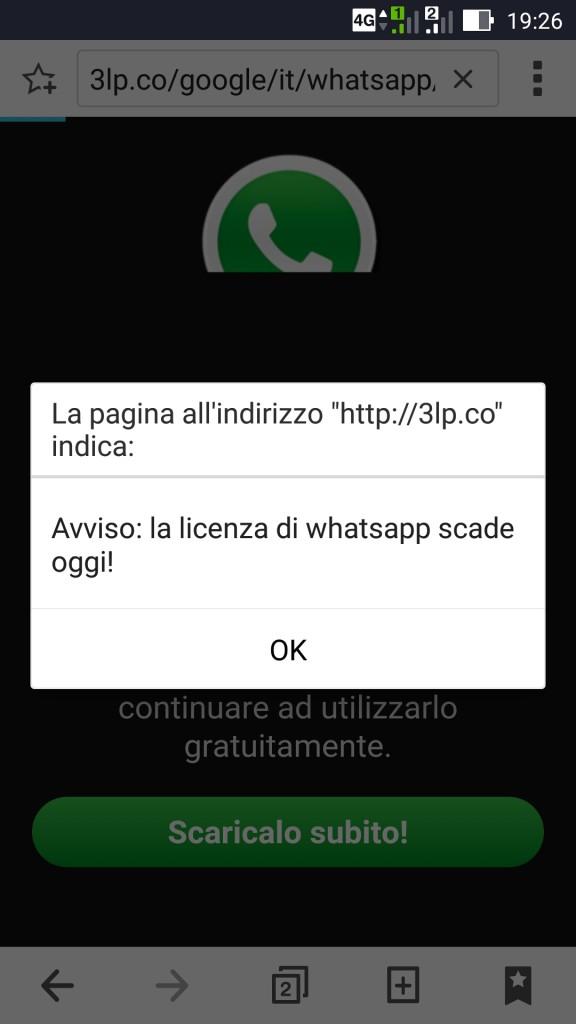 whatsapp-truffa-abbonamento