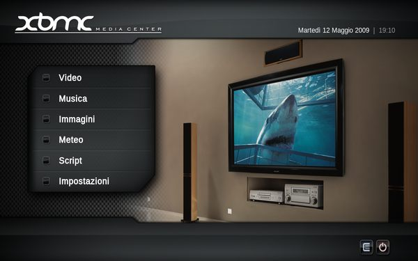 immagine del mediacenter XBMC