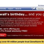 Zone Alarm Pro 2009 gratis per poco, affrettatevi!