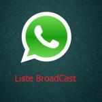 WhatsApp e le liste di broadcast