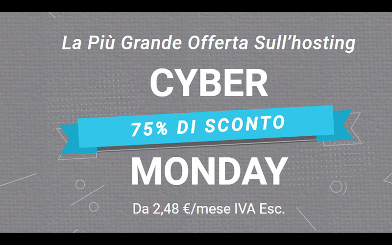 Cyber Monday Siteground 2019
